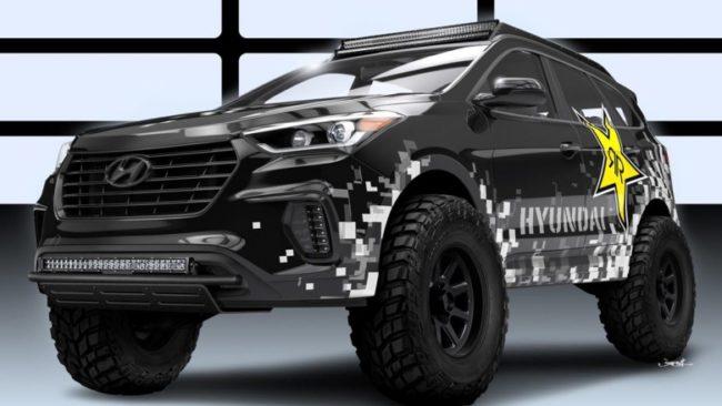 Кроссовер Santa Fe, доработанный фирмой Hyundai