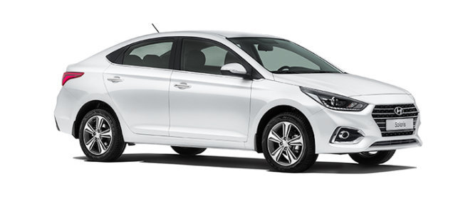 Hyundai Solaris Crystal White