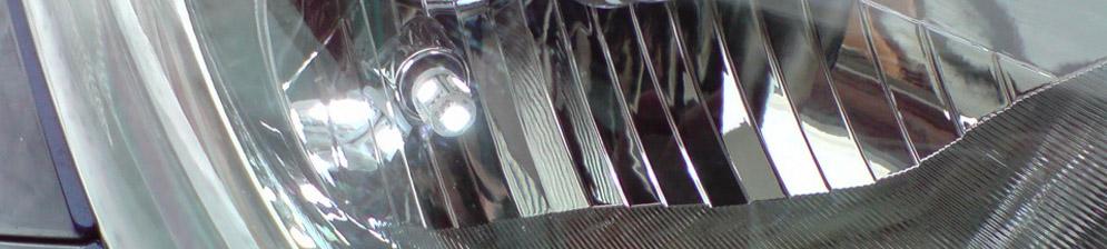 Диодная габаритная лампа в фаре на Хендай Солярис