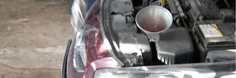 Доливка одного литра масла в коробку автомат на Хендай Солярис