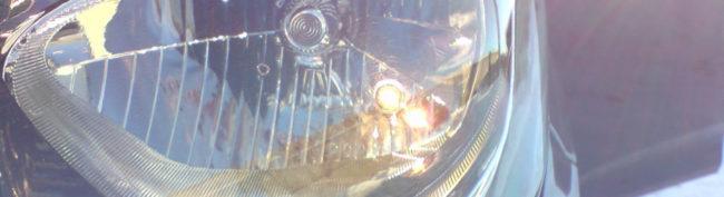 Габаритная лампочка в фаре на Хендай Солярис