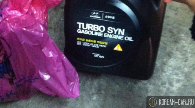 Моторное масло от Хендай на Солярис