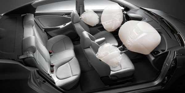 Передние и боковые подушки безопасности на Хёндай Солярис