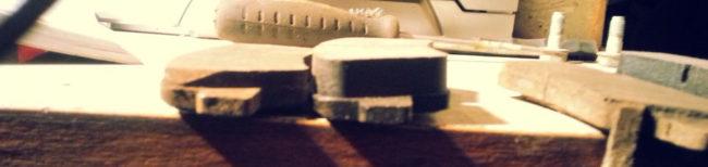 Старая и новая тормозная колодка на Хендай Солярис