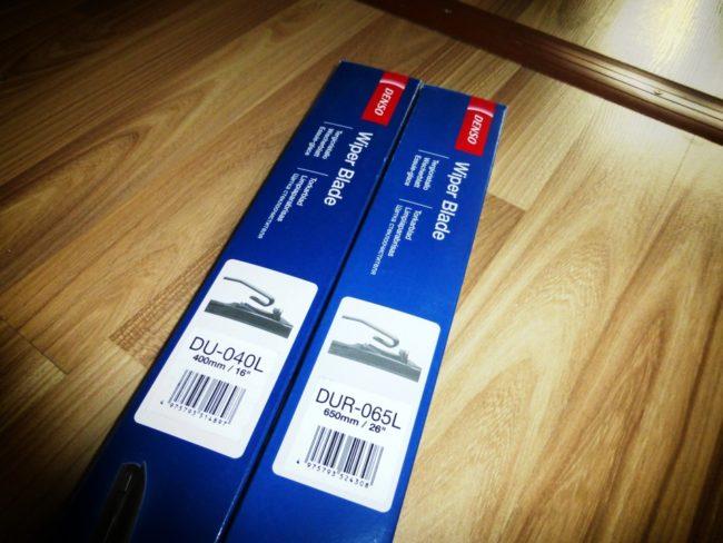 Упаковка щеток стеклоочистителей DENSO Hybrid Wiper Blade на Хёндай Солярис