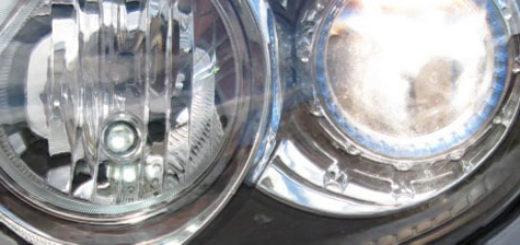Лампы ближнего и дальнего света в фаре на Хёндай i30