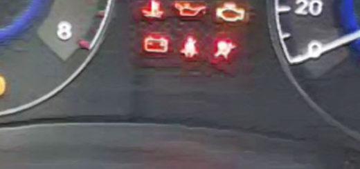 Контрольная лампа АБС на панели приборов Хёндай Солярис