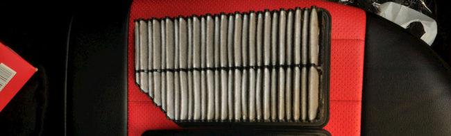 Пыльный воздушный фильтр на Хёндай Солярис