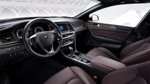Салон Хёндай Соната 2017 года в новом кузове вид спереди спереди