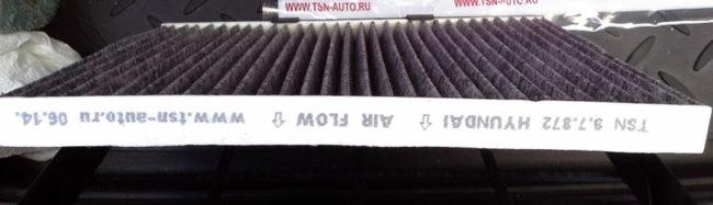Воздушный фильтр TSN на Хёндай Солярис