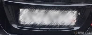 Подсветка заднего номера на Хёндай Солярис