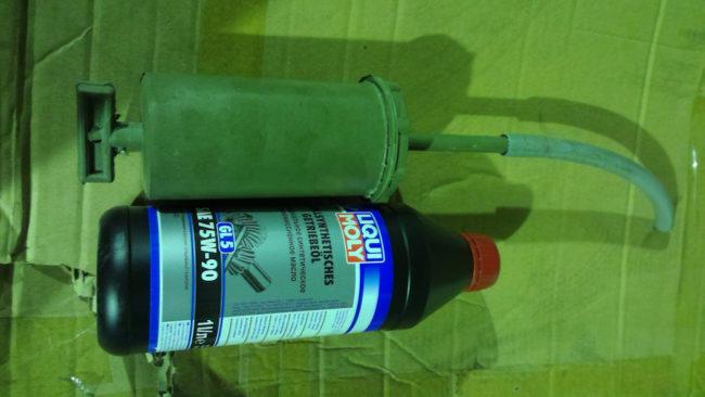 Заправочный шприц и трансмиссионное масло для Хёндай Солярис
