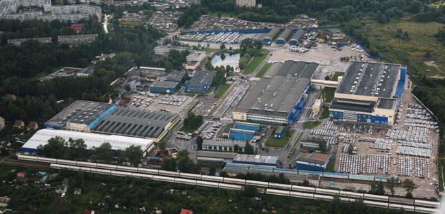 Завод Автотор в Калининграде вид сверху