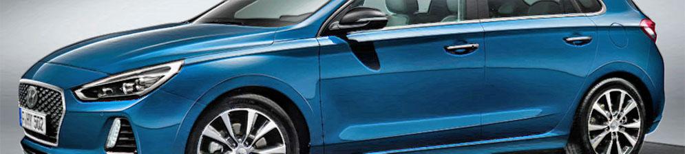 Хёндай i30 2017 года в новом кузове синего цвета