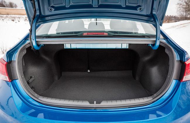 Открытое багажное отделение в седане Хёндай Солярис 2019 модельного года