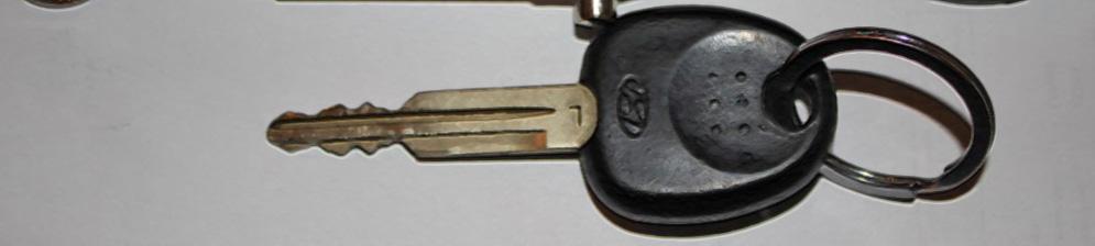 Ключ зажигания Хёндай Акцент вблизи