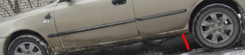 Увеличенный клиренс на Акценте в месте заднего колеса