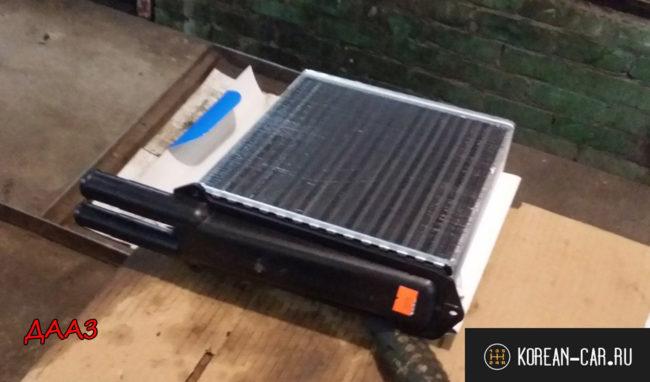 Родной радиатор отопителя ДААЗ алюминиевый на Лада Калина