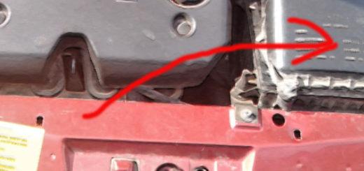 Расположение воздушного фильтра на Лада Калина 1