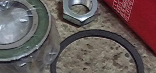 Передний ступичный подшипник с гайкой и стопорным кольцом на автомобиль Лада