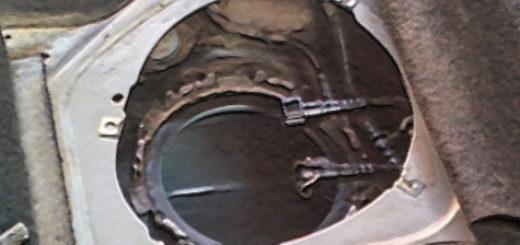 Доступ к бензину в баке через горловину снятого бензонасоса на Лада Калина