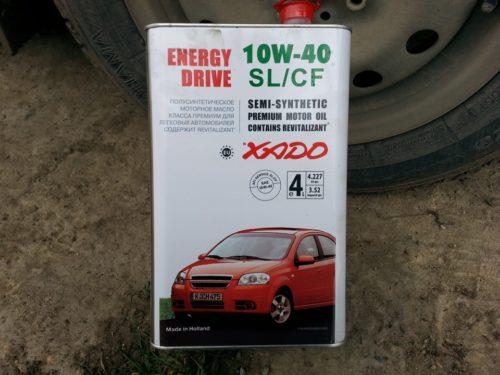Металлическая канистра с моторным маслом Xado 10W-40 для седана Лада Калина
