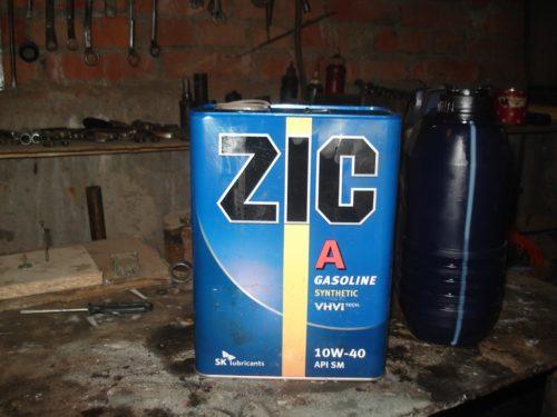 Моторное масло ZIC 10W-40 для двигателя Лада калина 16 клапанов