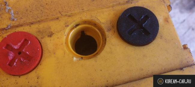 Проверка наличия кислоты в АКБ через отверстие пробки