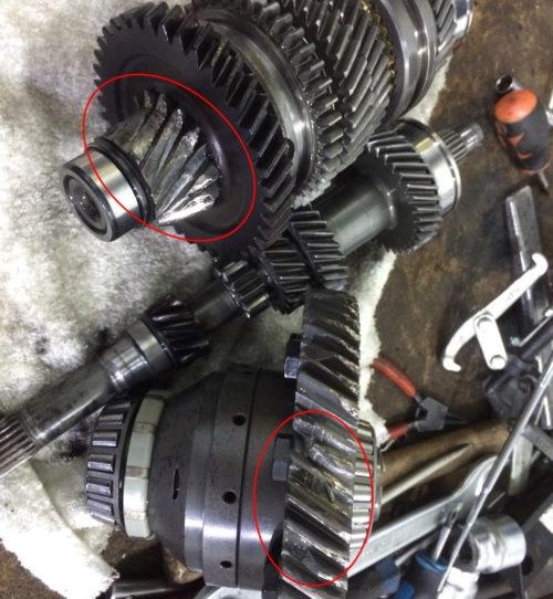 Повышенный износ деталей в механической коробке передач седана Лада Калина