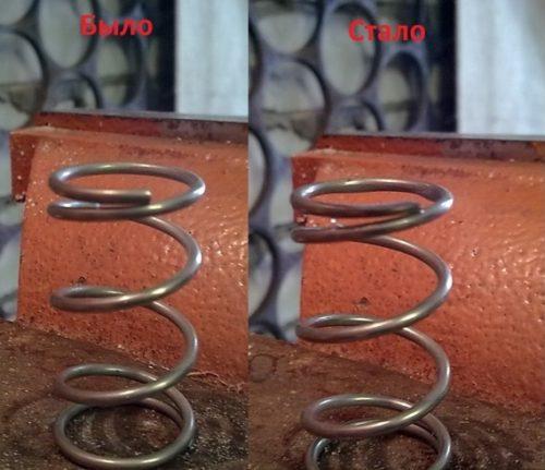 Подгонка пружины термоэлемента wahler 3091.92d под термостат для Лада Калины
