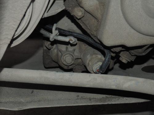 Новая проводка на фишке соленоида в КПП автомобиля Лада Калина