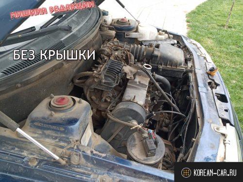 Без декоративной крышки двигателя на ВАЗ-2110